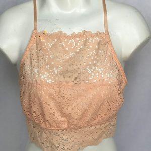 Jessica Simpson Peach Bralette Size Large